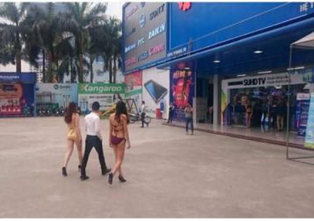 Trần Anh thuê người mẫu mặc bikini tiếp thị sản phẩm điều hòa