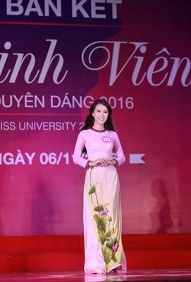 """10 thí sinh miền Bắc vào vòng Chung kết """"Nữ sinh viên Việt Nam duyên dáng 2016"""" ảnh 3"""