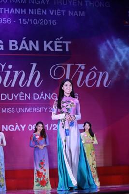 """10 thí sinh miền Bắc vào vòng Chung kết """"Nữ sinh viên Việt Nam duyên dáng 2016"""" ảnh 4"""