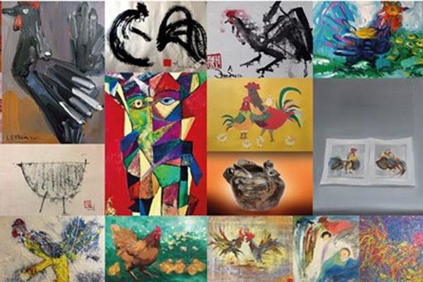 Ra mắt 60 tác phẩm nghệ thuật về loài gà
