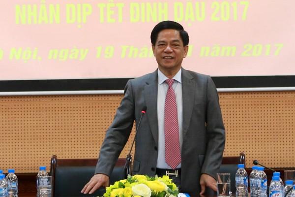 Thiếu tướng Đoàn Duy Khương, Giám đốc Công an TP.Hà Nội phát biểu tại buổi gặp mặt
