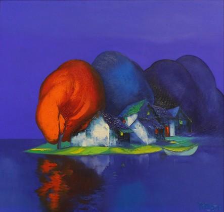 """Tác phẩm """"Một đỏ"""" của họa sỹ Đào Hải Phong"""