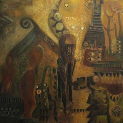 """Tác phẩm """"Khát vọng"""" của họa sỹ Đậu Quang Toàn"""