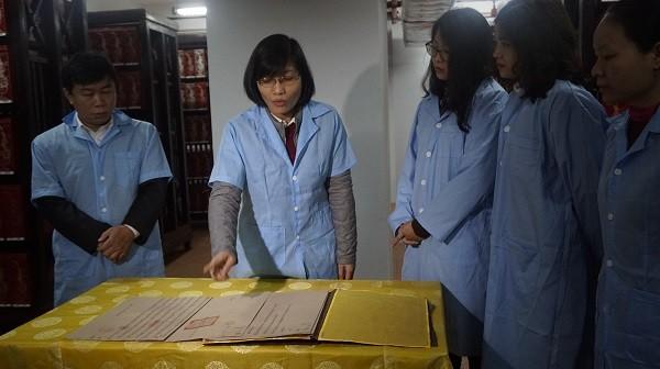 Di sản tư liệu thế giới Châu bản triều Nguyễn đang được lưu trữ tại Trung tâm Lưu trữ quốc gia I