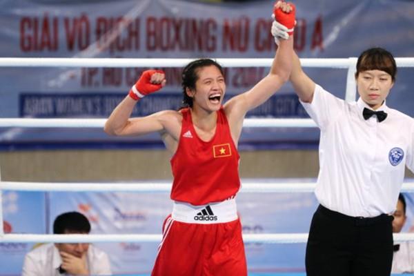 VĐV Nguyễn Thị Thành Tâm giành HCV đầu tiên cho boxing Việt Nam tại đấu trường châu Á