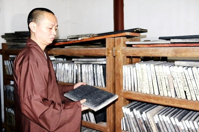Mộc bản kinh Phật chùa Bổ Đà được công nhận là Bảo vật quốc gia