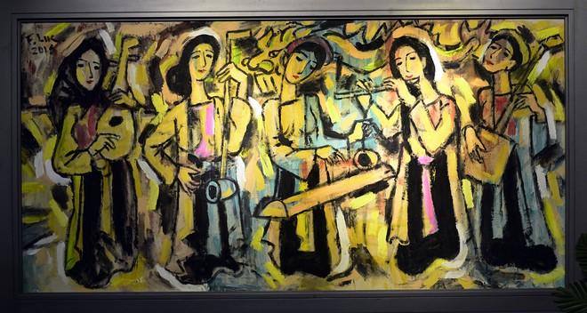 """""""Van Gogh của Việt Nam"""" cho ra mắt loạt tranh vẽ người đẹp ảnh 1"""