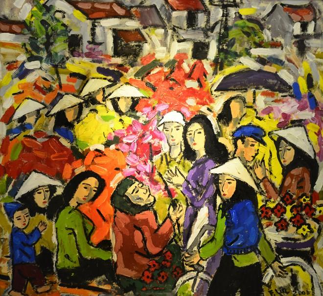 """""""Van Gogh của Việt Nam"""" cho ra mắt loạt tranh vẽ người đẹp ảnh 3"""