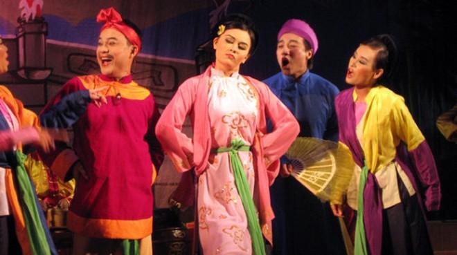 Tiết mục của nhà hát Chèo Hà Nội