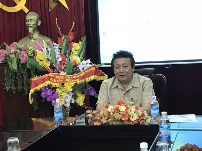 Ông Hoàng Minh Khánh tại buổi gặp gỡ báo giới ngày 20/6/2018
