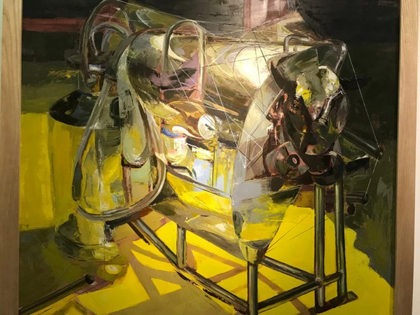 """Tác phẩm """"Công nghiệp bò"""" của Vũ Thanh Nghị đoạt giải Nhì Giải thưởng Hội Mỹ thuật Việt Nam năm 2018"""