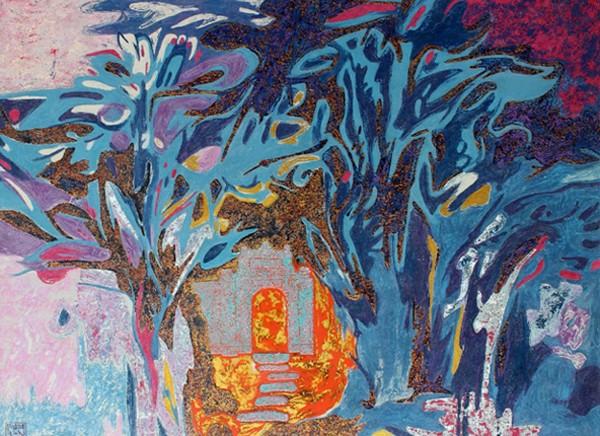"""Tác phẩm """"Thiên thai I"""" của họa sỹ Nguyễn Trường Linh"""