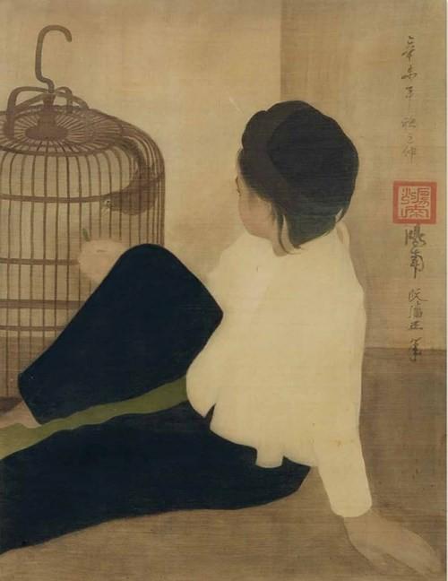 """Bức tranh """"Em bé cho chim ăn"""" của danh họa Nguyễn Phan Chánh được một """"đại gia"""" Việt mua về với giá 853.000 USD, tương đương 20 tỷ đồng"""