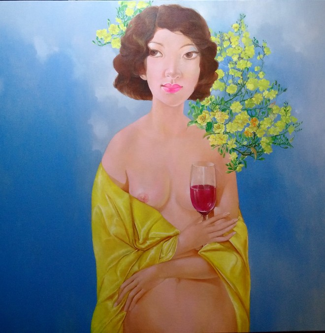 Tranh của họa sỹ Đặng Thu An