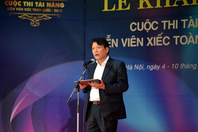 Cục trưởng Cục NTBD Quang Vinh phát biểu khai mạc cuộc thi Tài năng Diễn viên Xiếc toàn quốc 2018