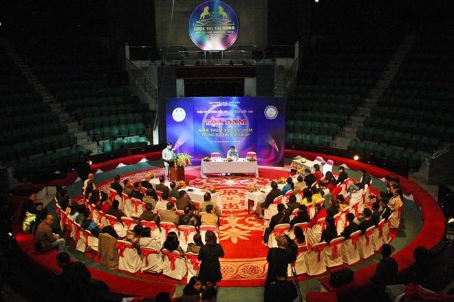"""Quang cảnh buổi tọa đàm """"Nghệ thuật xiếc Việt Nam trong xu thế hội nhập"""" vừa diễn ra sáng ngày 8-12 tại Hà Nội"""