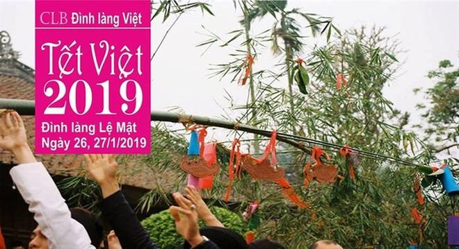 """Rộn ràng chương trình """"Tết Việt xuân Kỷ Hợi 2019"""" tại đình làng Lệ Mật"""