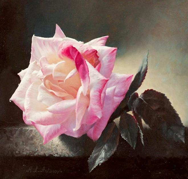 Bức tranh vẽ hoa hồng của họa sỹ người Nga, Alex Antonov