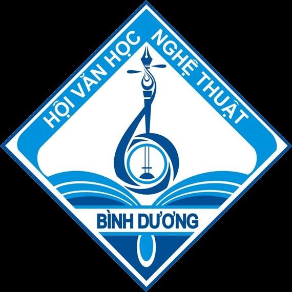(logo tỉnh Bình Dương) khi được biến hóa sang logo của Hội VHNT Uống Bí