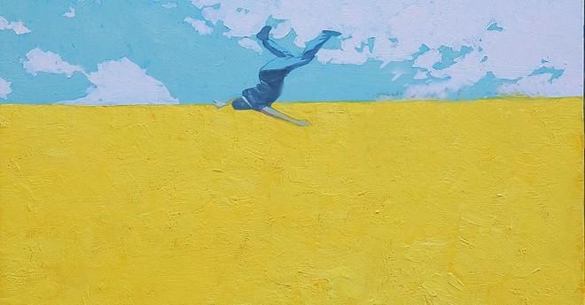 """Một tác phẩm tại triển lãm cá nhân lần 2 """"Rơi vào đường chân trời"""""""