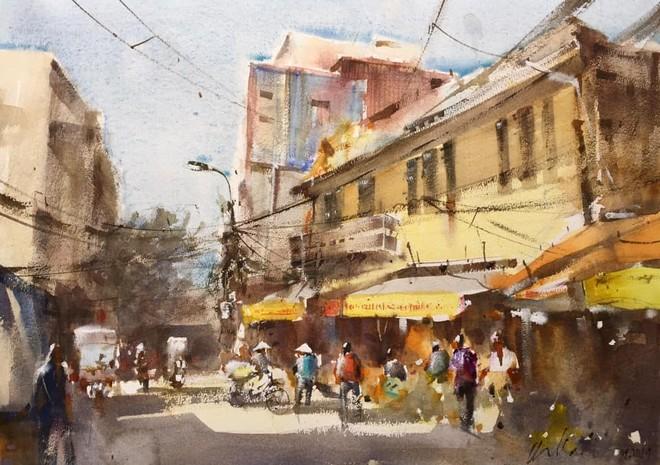 Tác phẩm của nhóm Ký họa Hà Nội