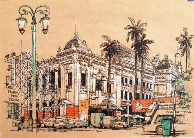 Nhà hát Lớn Hà Nội-nhóm Ký họa Hà Nội