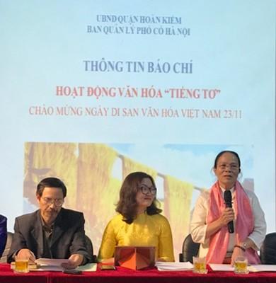 """Ban Quản lý Phố cổ Hà Nội tổ chức họp báo giới thiệu về chương trình """"Tiếng tơ"""""""