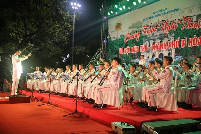 Màn biểu diễn của dàn kèn Đoàn Nghi lễ CAND