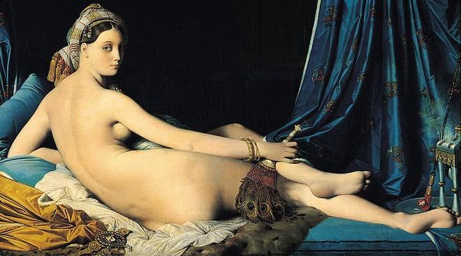 """Bức tranh """"La Grande Odalisque"""" của họa sĩ Jean-Auguste Dominique Ingres, hiện đang được lưu giữ tại bảo tàng Louvre (Pháp)"""