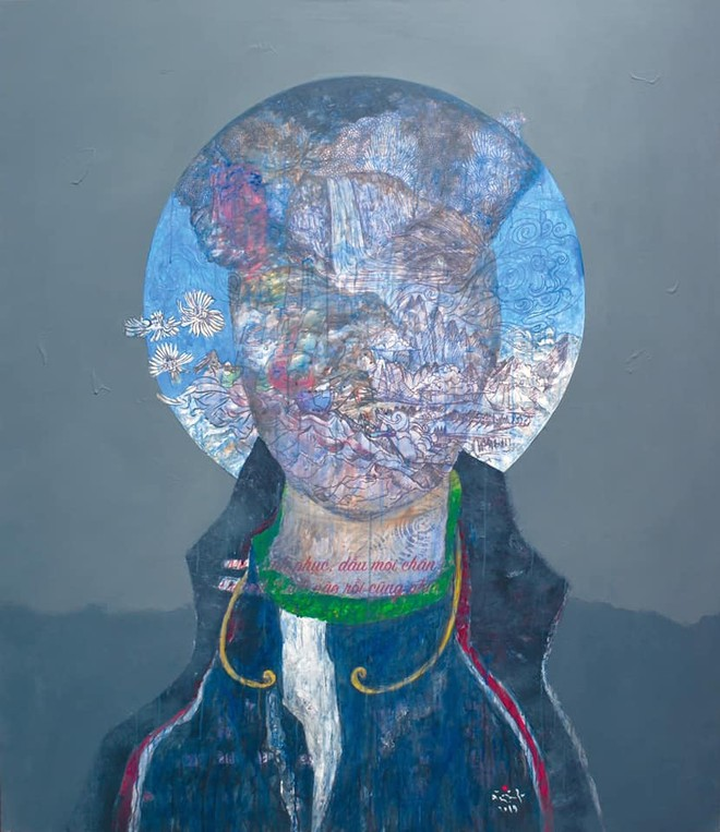 Một tác phẩm tại triển lãm