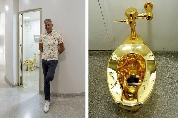 Nghệ sĩ từng gây sốc với chiếc bồn cầu bằng vàng 18 carat