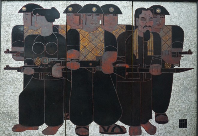 """Tác phẩm """"Từ nhân dân mà ra"""" của họa sĩ Quang Thọ"""