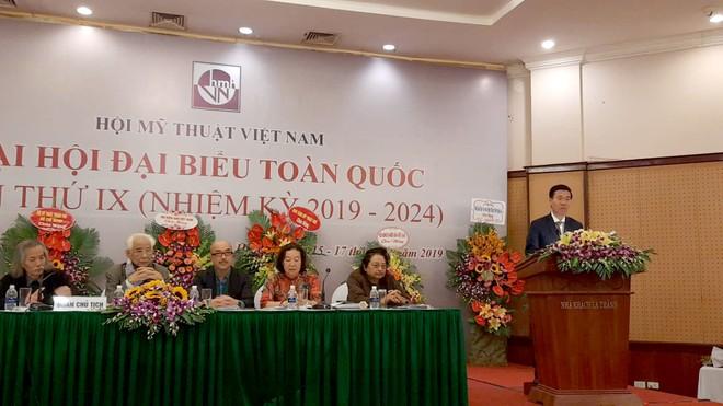 Ủy viên Bộ Chính trị, Trưởng Ban Tuyên giáo Trung ương Võ Văn Thưởng phát biểu tại Đại hội
