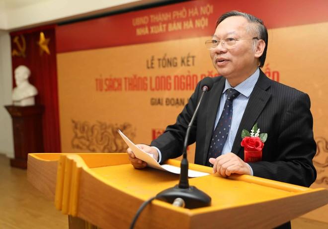 GS Nguyễn Quang Ngọc phát biểu tại lễ tổng kết dự án