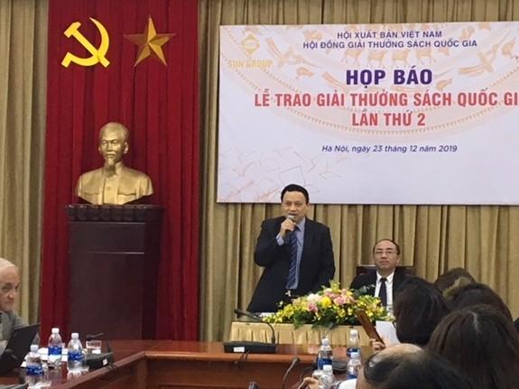 Buổi họp báo thông tin về Giải thưởng Sách Quốc gia lần thứ hai vừa diễn ra chiều ngày 23-2 tại Hà Nội