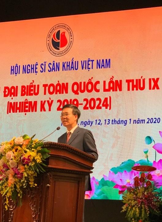 Trưởng Ban Tuyên giáo Trung ương Võ Văn Thưởng phát biểu tại đại hội