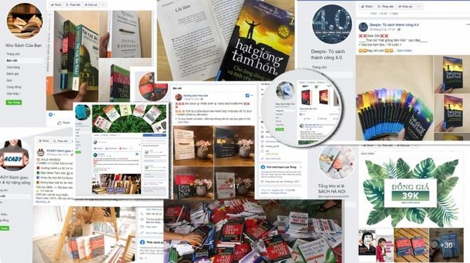 Những trang fanpage bán sách in lậu, sách giả