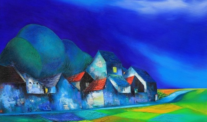 Một tác phẩm của họa sĩ Đào Hải Phong