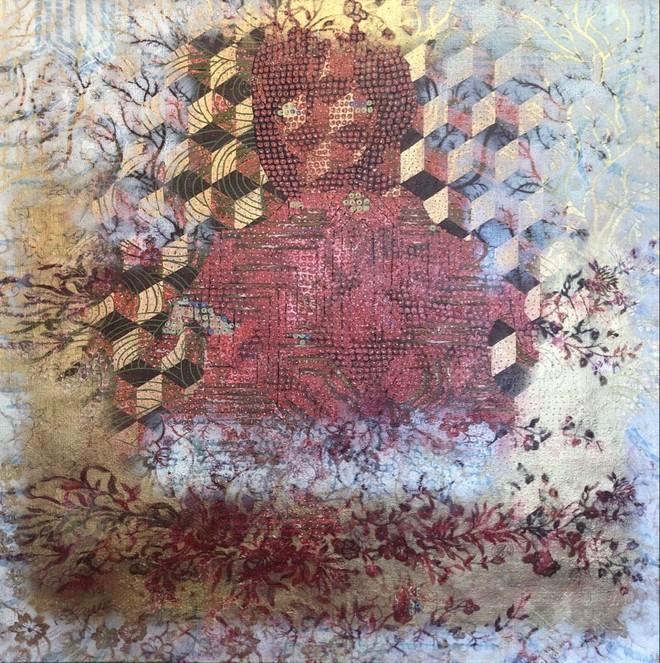 """Tác phẩm """"Miền đất khác"""" của họa sĩ Nguyễn Thế Hùng"""