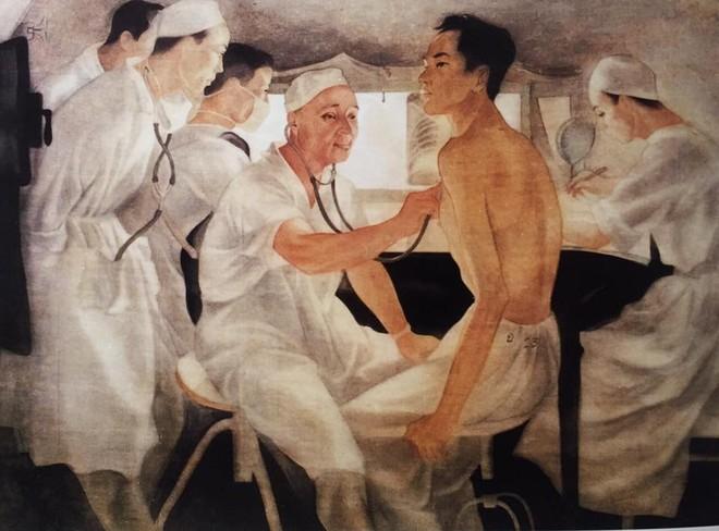 """Tác phẩm """"Anh hùng lao động Phạm Ngọc Thạch"""" của họa sĩ Trần Đông Lương đang nằm trong bộ sưu tập của Bảo tàng Mỹ thuật VN"""