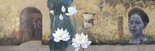 Tác phẩm của họa sĩ Minh Đông về làng Cựu