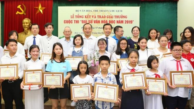 Lễ trao giải cuộc thi Đại sứ văn hóa đọc 2019