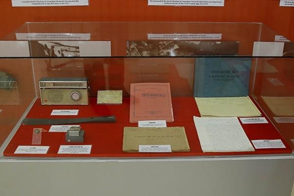 Một số hiện vật được trưng bày
