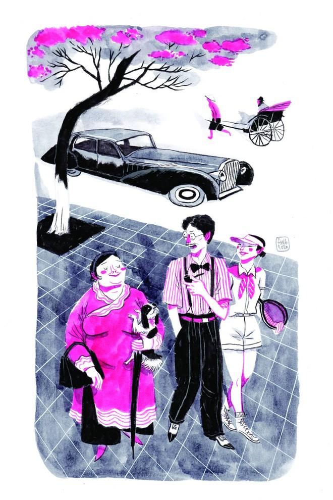 Nét vẽ minh họa của họa sĩ Thành Phong