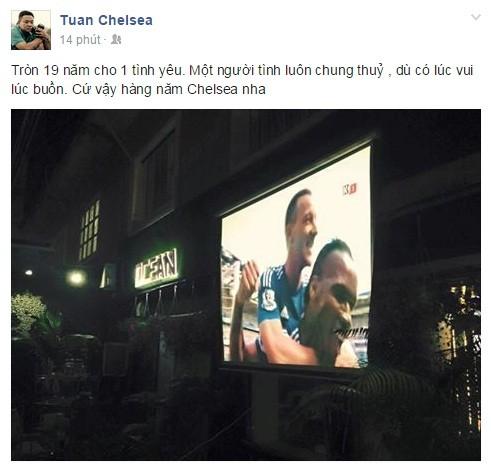 Muôn sắc thái mừng vô địch của fan Chelsea ở Việt Nam ảnh 1