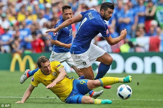 Italia và Thụy Điển chơi chặt chẽ nên không có nhiều cơ hội đáng chú ý