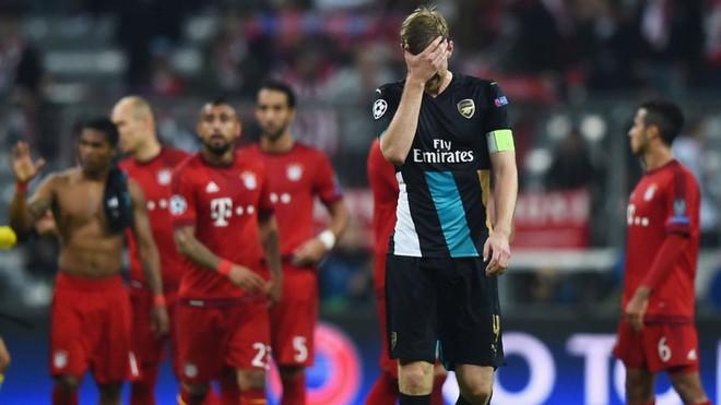 Bayern luôn mang lại kỷ niệm đắng cay cho Arsenal ở châu Âu