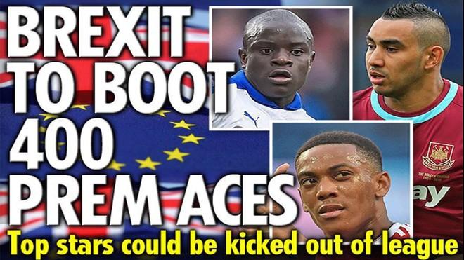 Brexit gây ảnh hưởng nặng nề lên bóng đá Anh