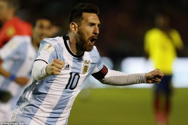 Messi là người hùng của Argentina đêm qua