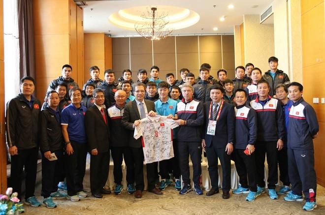 Toàn đội U23 Việt Nam hứa sẽ tiếp tục chơi hết mình ở trận bán kết